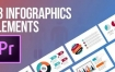 PR预设 43组现代彩色信息图表图形进度条数据展示动画预设模板