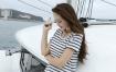 RAW原片素材 16P游艇美女模特海风摄影原图高清下载