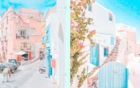 [LR预设]日系清新通透淡彩糖果色,风光街拍静物Lightroom预设,视频调色LUT