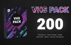 AE模板下载 VHS复古录影带特效80年代旧电影效果 高分辨率尺寸