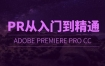 PR CC 2018从入门到精通视频剪辑转场调色字幕抠像合成教程60集高清