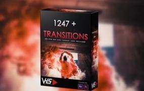 1247种PR预设插件视频转场特效过渡冲击故障运动缩放闪白叠加Tutorial Preset Transitions VHS Studio
