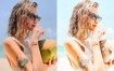 INS网红夏天海边沙滩清新通透明亮LR预设下载 Lightroom调色滤镜