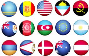 PNG素材 69个国家69款圆形免扣图透明背景Logo图片素材